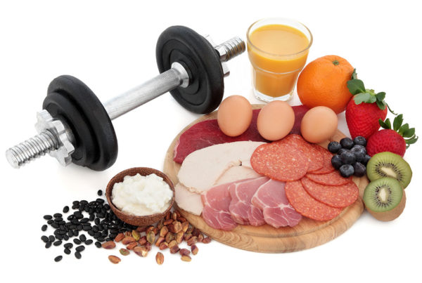 weights meats and fruits
